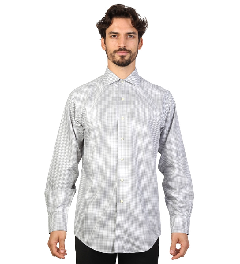 Brooks Camisa Color Y Cuadros slim Brothers Fit Gris Blanco Con wn0OPk8