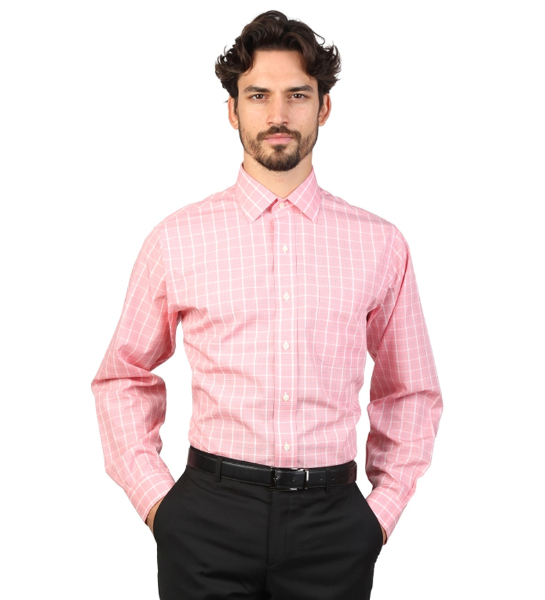 Comprar Brooks Brothers Camisa slim fit color rosa con cuadros