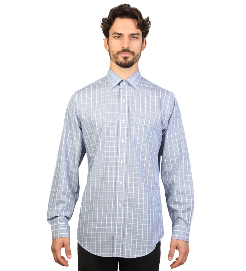 Brooks Fit Color slim Azul Con Brothers Camisa Cuadros srQxthdCB