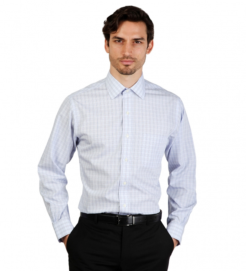 Comprar Brooks Brothers Camisa slim fit color azul a cuadros