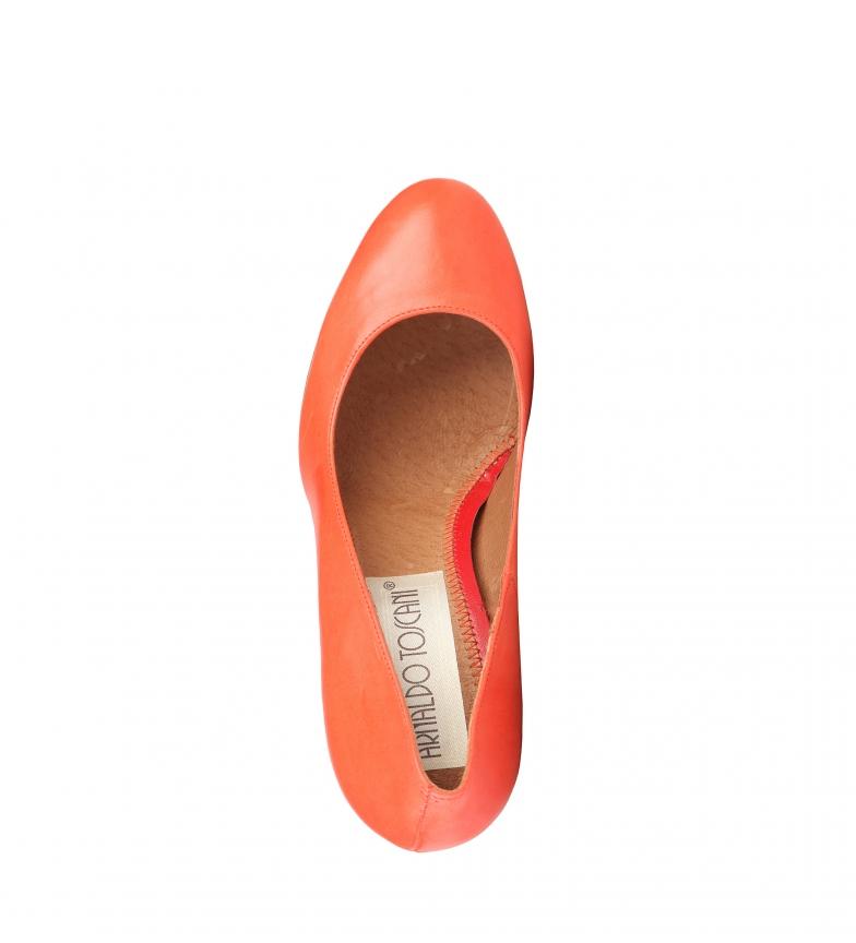 coral br tacón 8cm Arnaldo color Zapatos de Toscani Altura br piel x6wXS0RUwq