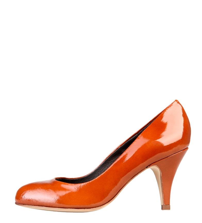 Toscani tacón piel color Altura Zapatos br br caramelo de 8cm Arnaldo charol dqOZBd