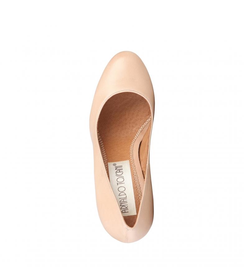 color visón Altura br de Zapatos Toscani piel br 8cm tacón Arnaldo xZqRCK