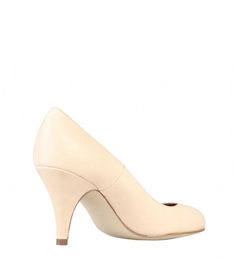 piel color tacón Arnaldo de Zapatos 8cm beige br br Toscani Altura 7Wx6Rxwanp