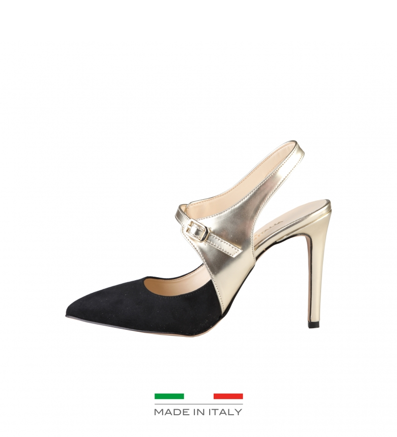 Comprar Made In Italia Cecilia chaussures noires, talon -Hauteur or: 10cm-