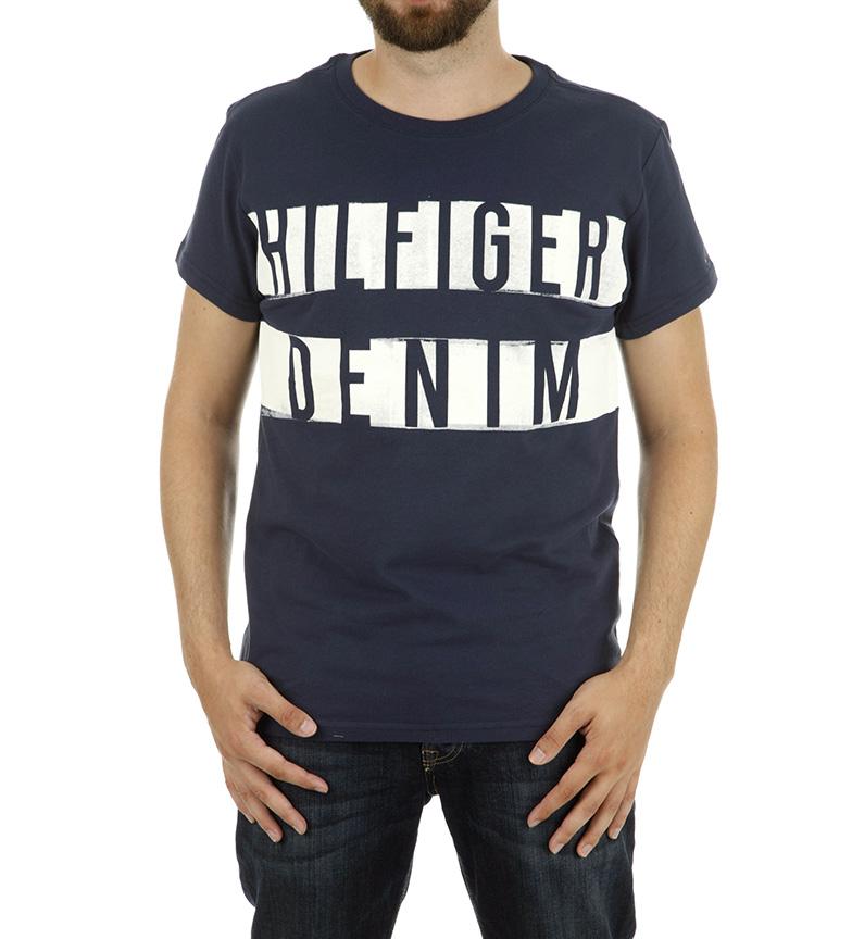 Denim Marino Hilfiger Tommy Camiseta Tommy n0PX8wOk