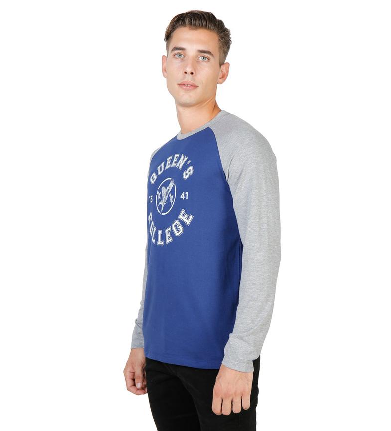 Oxford University Camiseta Queens Eagle azul, gris
