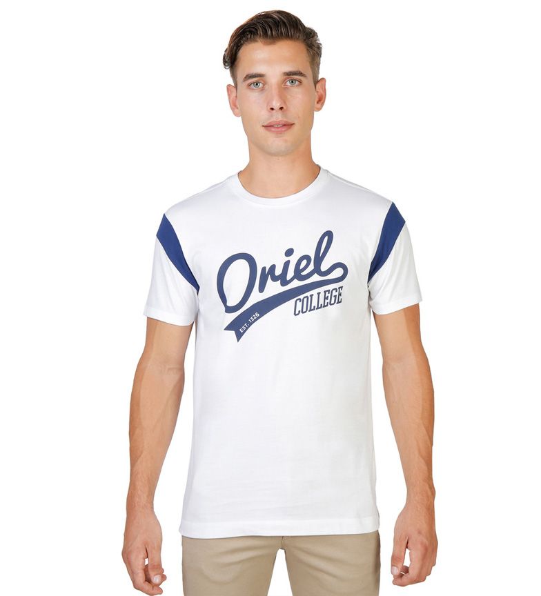 Comprar Oxford University Camiseta Oriel Varsity blanco