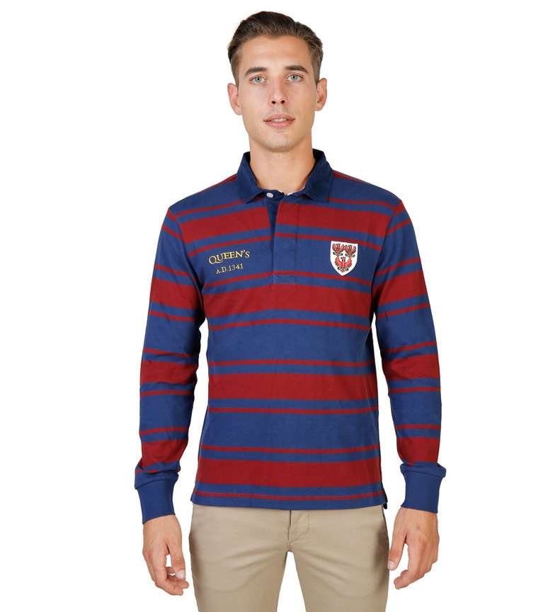 Comprar Oxford University Rugby rouge, bleu Polo