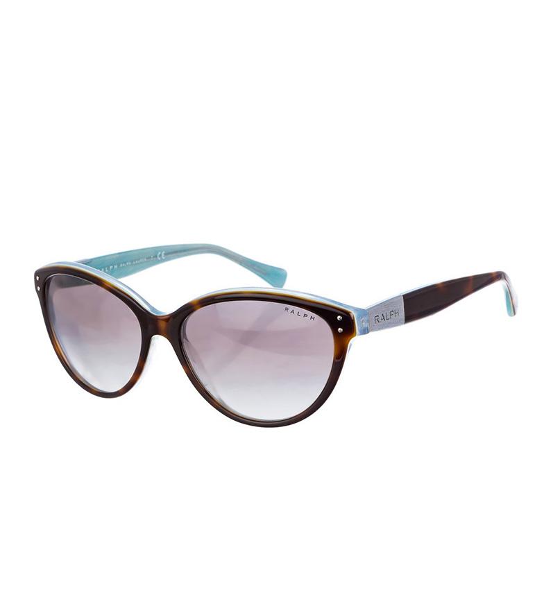Ralph Lauren Gafas de sol con montura de acetato habana, azul claro
