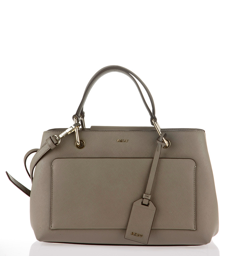 Comprar DKNY Bolso shopping de piel Bryant Park taupe -19x30x17cm-