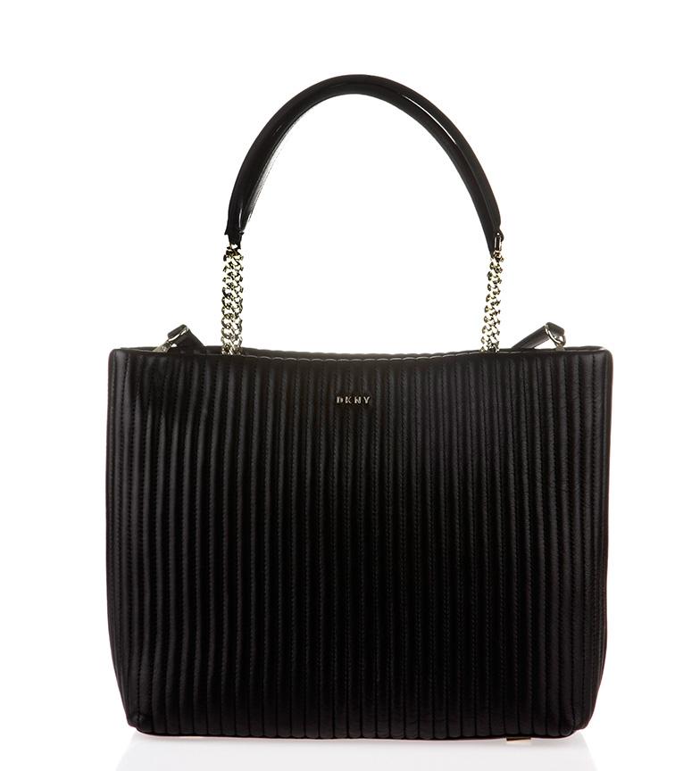 Comprar DKNY Saco de compras de couro preto Gansevoort  - 28x35x10cm -