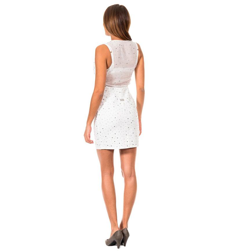 Met Jeans Vestido Viper blanco