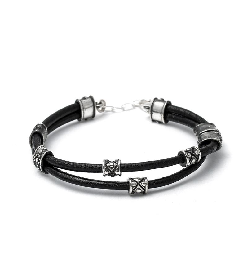 Comprar Yocari Bracelet argent Aran, cuir