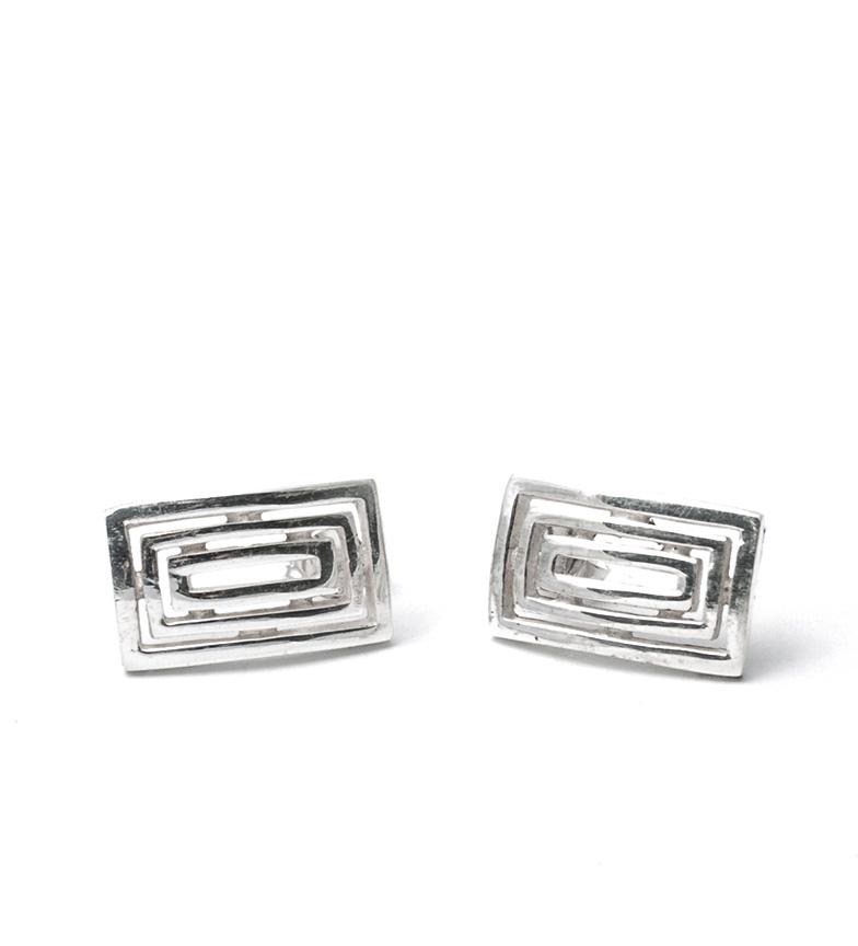 Comprar Prestige By Yocari Silver Rectangle Earrings