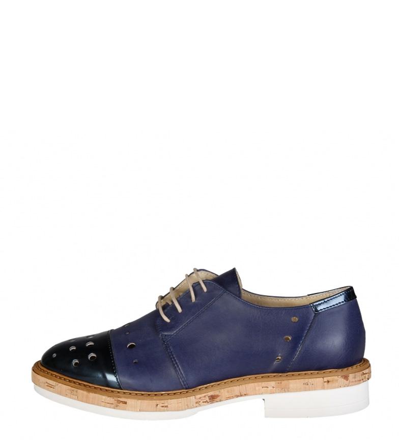 Comprar Made In Italia Zapatos de piel Letizia azul