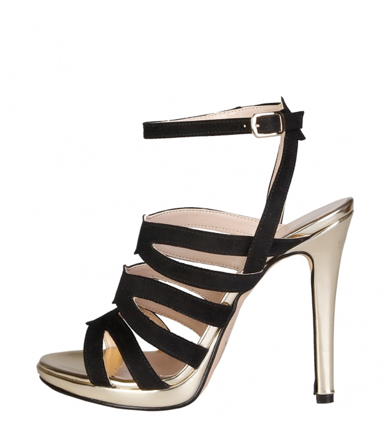 Comprar Made In Italia Cleo sandals black, gold-Heel height: 11.5 cm-