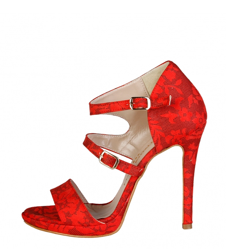 Comprar Made In Italia Red Iride Sandals -Heel Heel Height: 11.5cm-