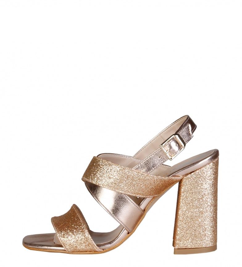 Comprar Made In Italia -Altezza Vera sandali d'oro tacco: 10cm-