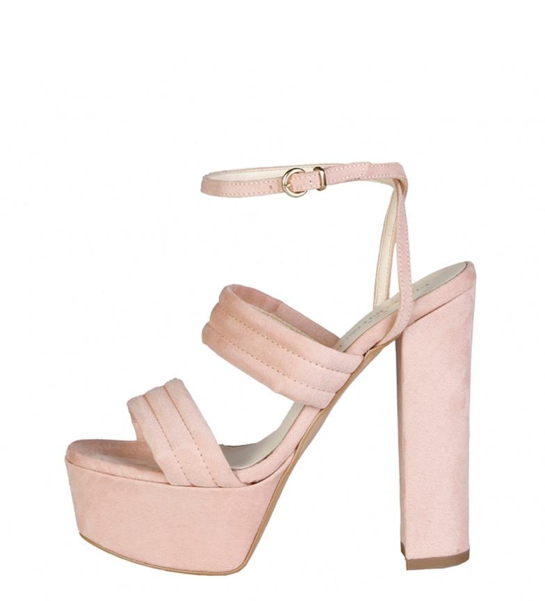 Comprar Made In Italia Fedora pink sandals -Heel height + platform: 15cm-