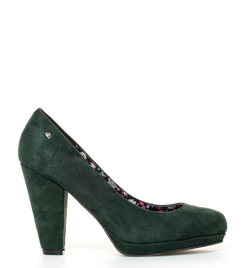 Compar Mustang Zapatos Este verde -Altura tacón: 10cm-
