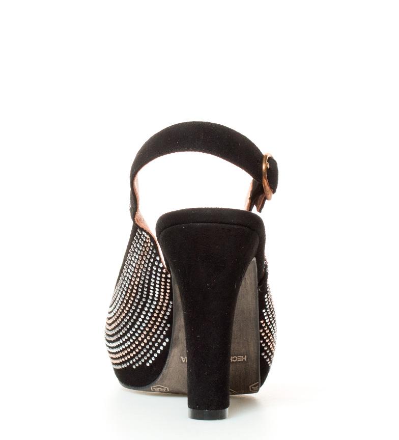 plataforma piel Altura 11cm Alina de tacón Sandalias negro Estefania Marco fWP6n8