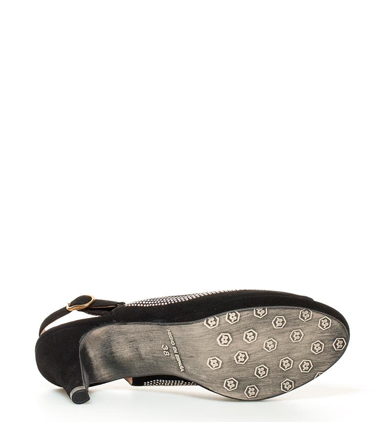 plataforma Marco piel Estefania 10cm negro Fabiola de Altura Sandalias tacón Pxqxf8Adw