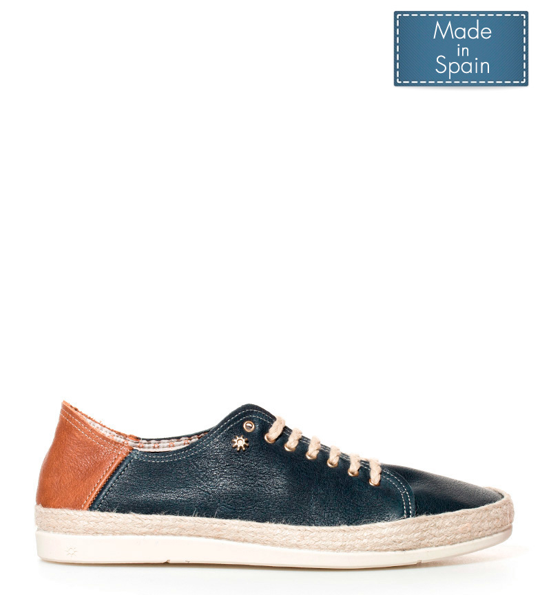 Comprar La Siesta San Juan navy blue leather sneakers
