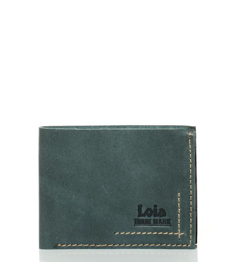 Comprar Lois Billetero de piel Bisae azul -11x8cm-