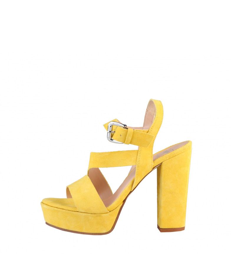 Compar V 1969 Sandalo in pelle tacco -Altezza Lison giallo: 12cm-