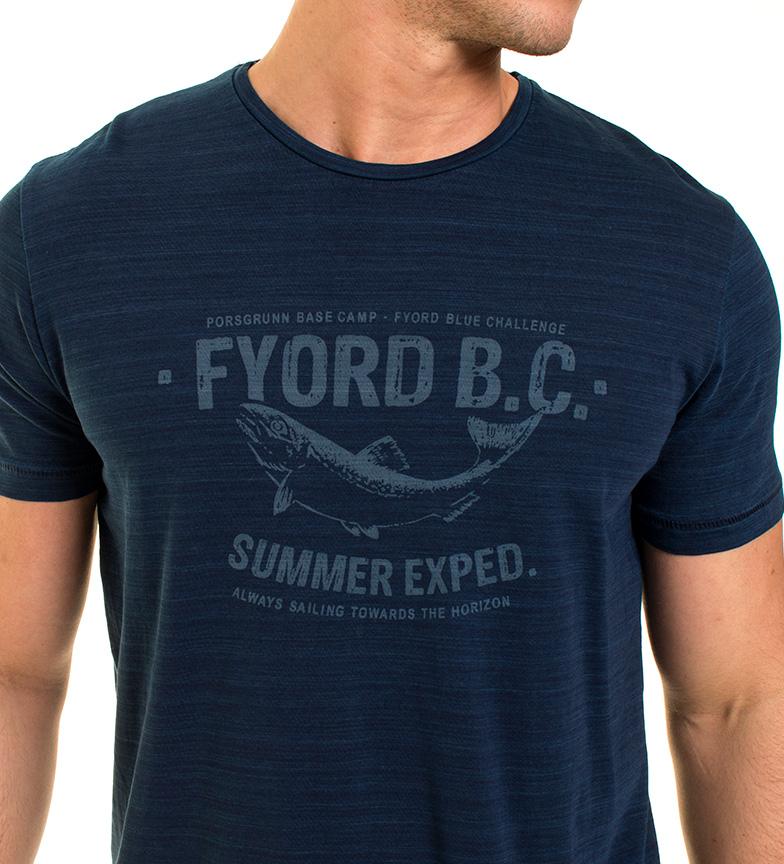 Fyord Camiseta Fosser azul