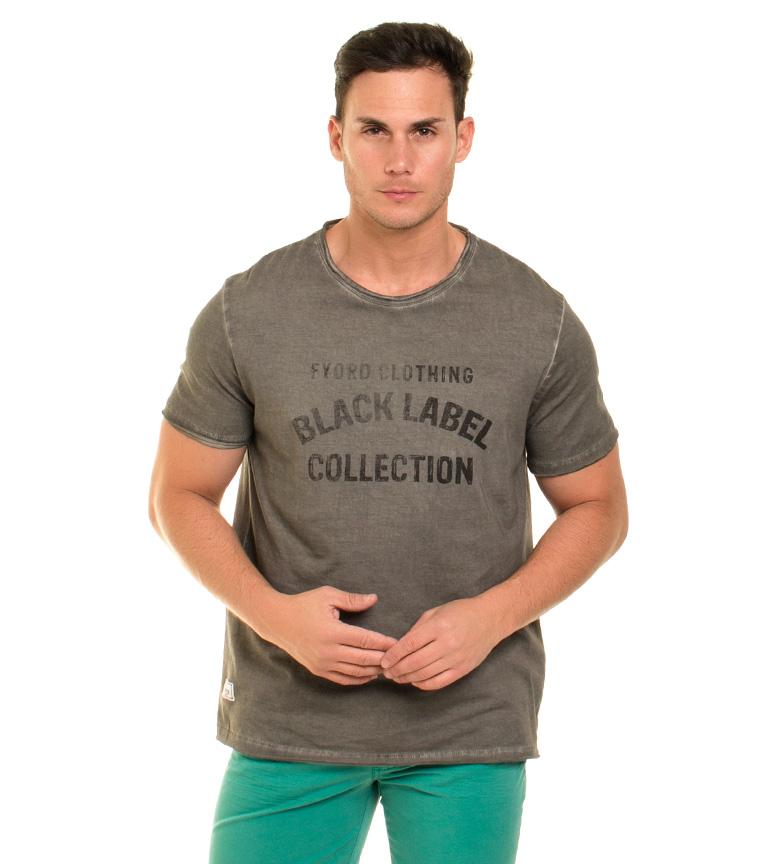 Fyord Camiseta Grå Brot kvalitet fabrikkutsalg R0YXUWK8