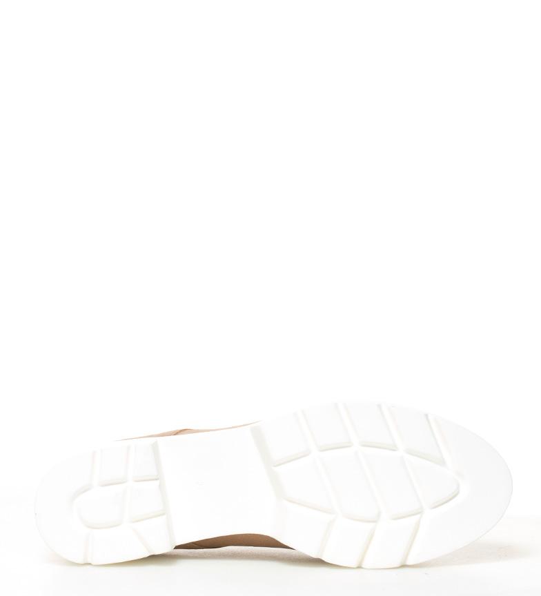 plataforma 5cm Victoria de br tacón beige 010 piel Altura Yokono Zapatos br PvOw1qtp