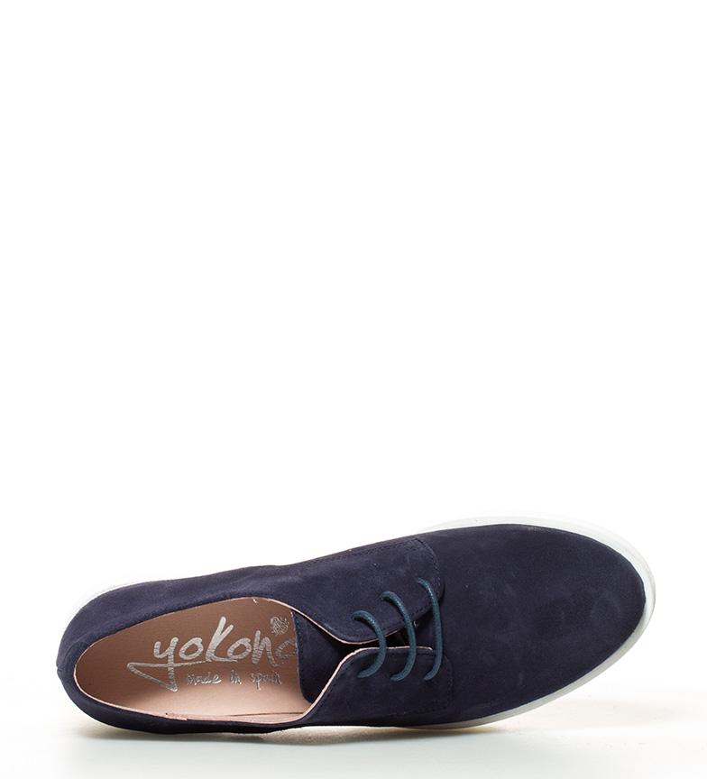 5cm 010 Victoria de Yokono marino Zapatos plataforma piel br Altura tacón br ZPgTnxqw