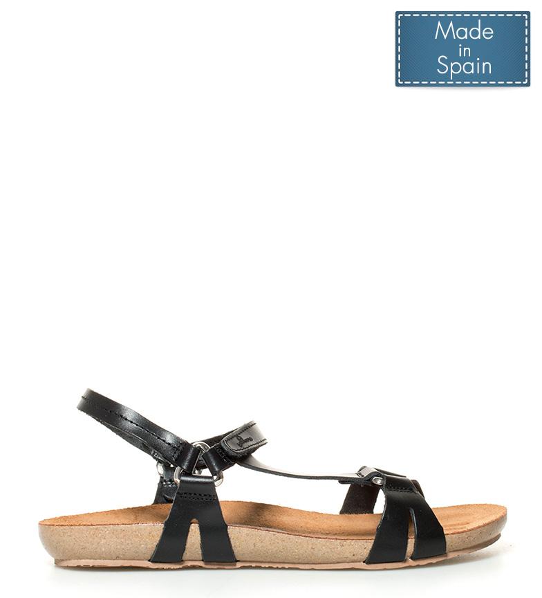 Ibiza negro Sandalias piel 041 Yokono de FzqxxB