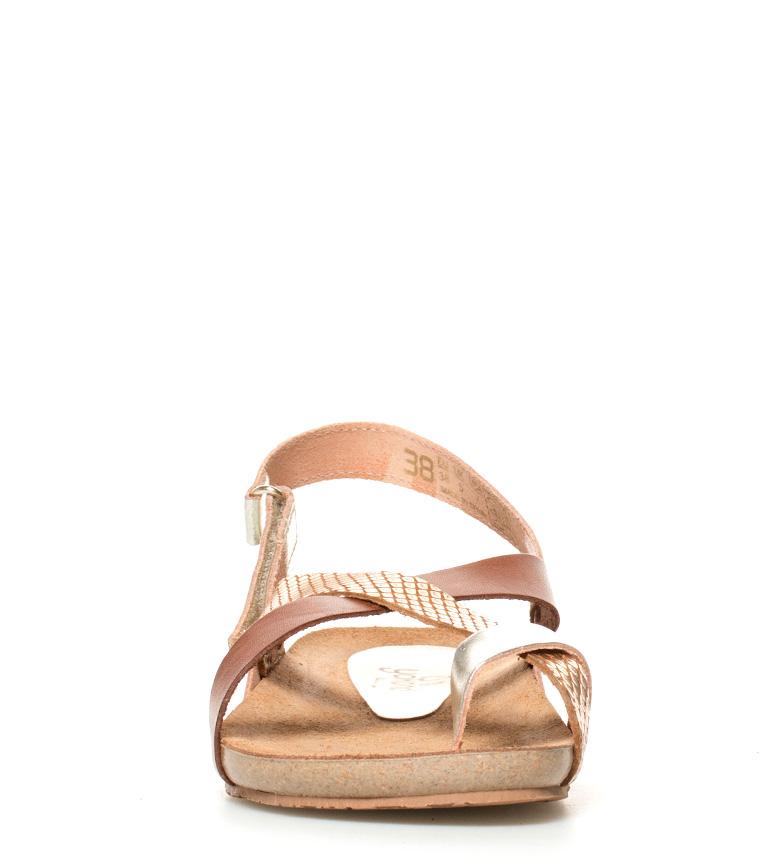 Yokono Sandalias de piel Ibiza 718 marrón