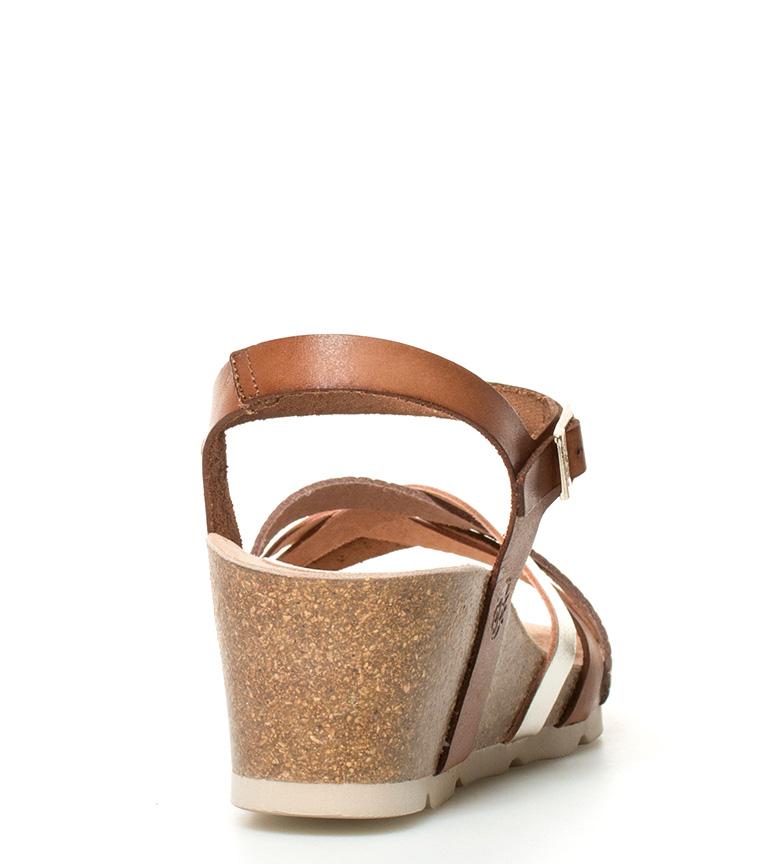 5cm de marrón 5 cuña br 071 Yokono Sandalias br piel Cadiz Altura g54xwwXPq