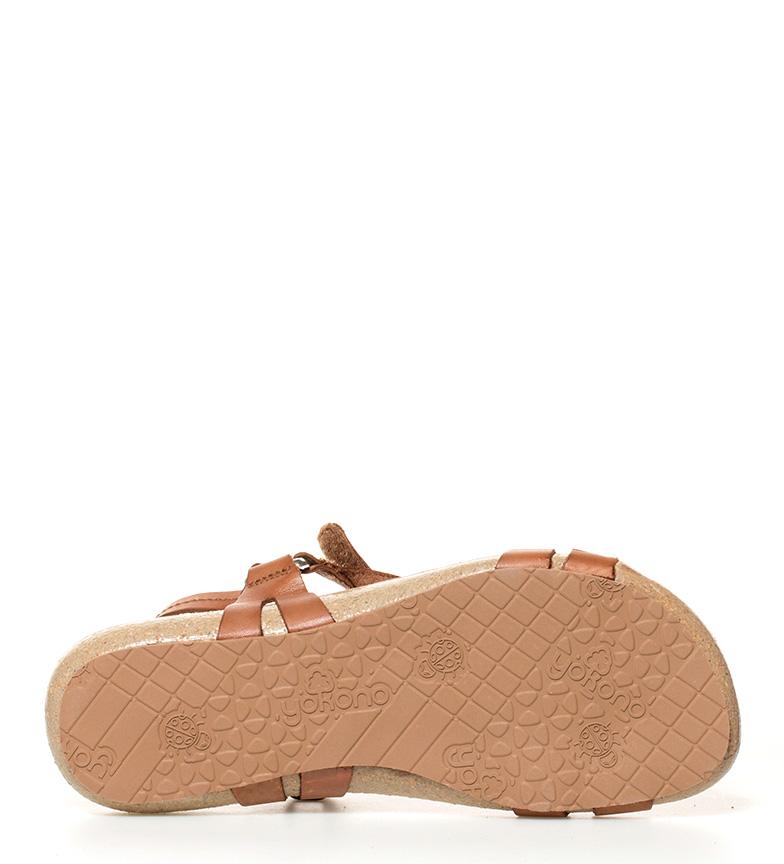 041 Ibiza Yokono piel de marrón Sandalias w7FqFSvH
