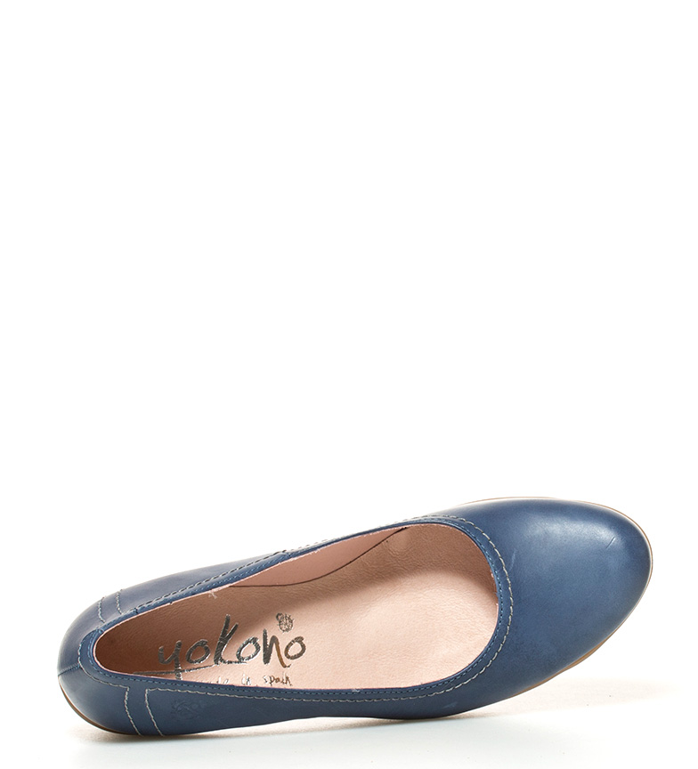 tacón piel br Zapatos Altura Yokono br de marino Tilsa 8cm 011 qpCaF