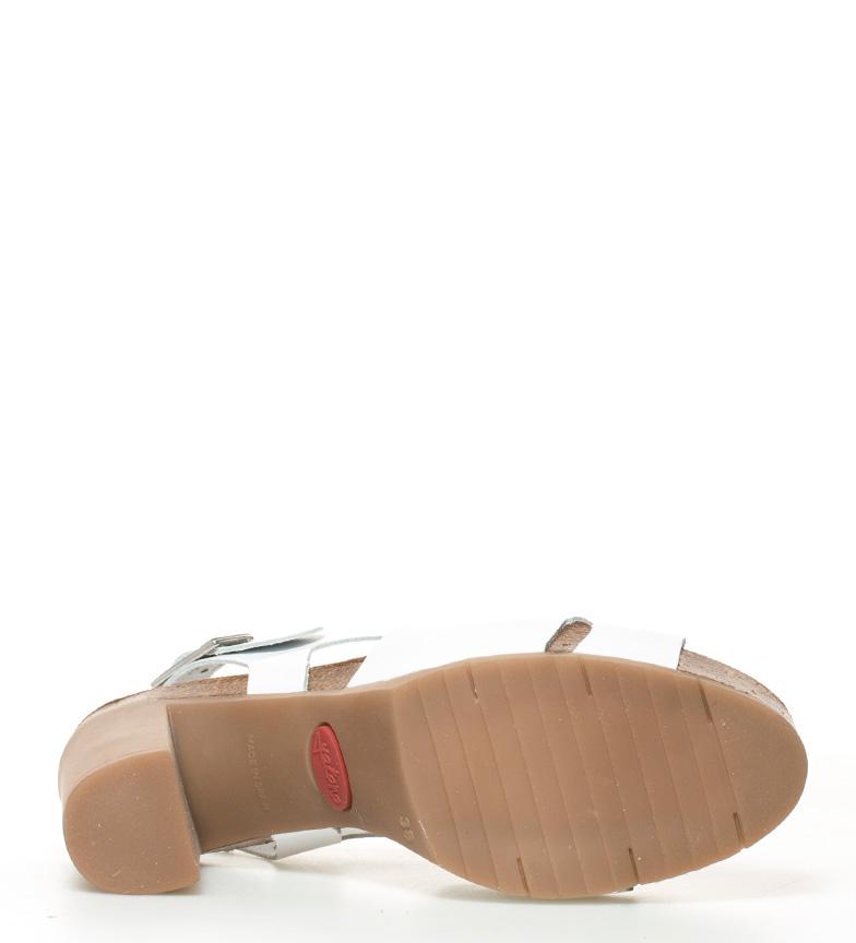 Malibu Sandalias br 010 piel br plataforma Altura 10cm tacón de Yokono blanco 6tw1qBBx