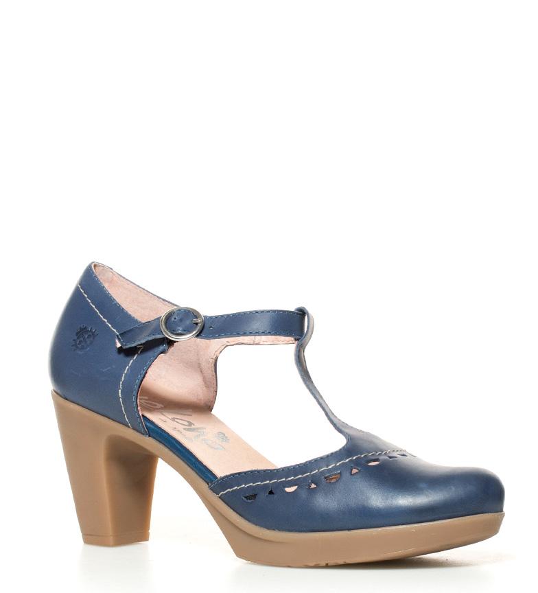 br tacón 8cm Tilsa Altura de Zapatos piel 011 marino Yokono br zq07vx