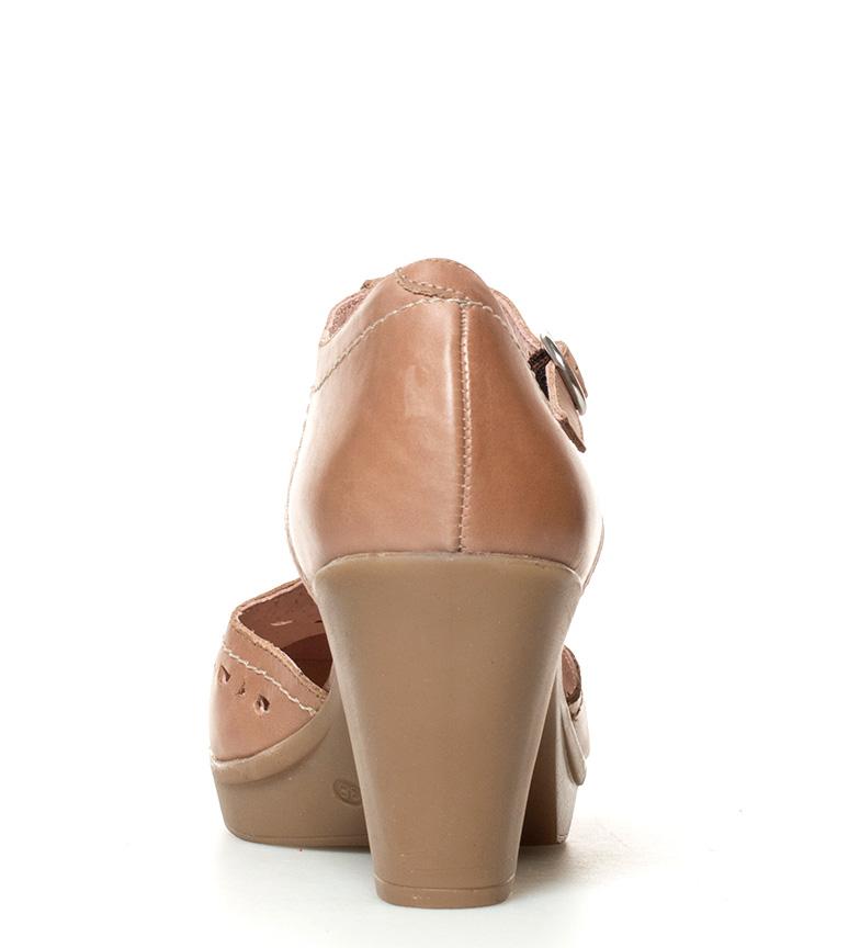 piel tacón 8cm br Tilsa marrón br 011 Zapatos de Altura Yokono EpBw77q