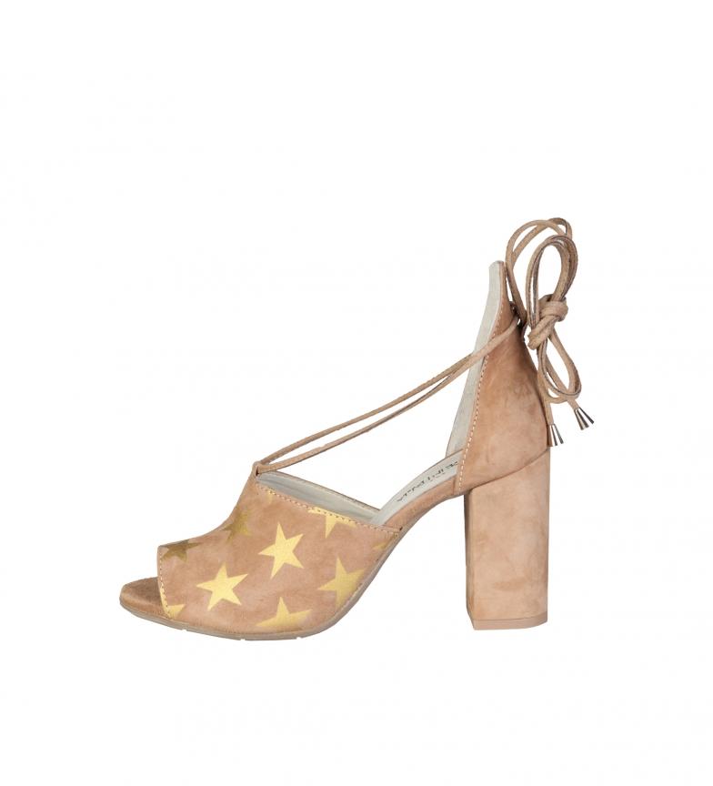 Comprar Made In Italia Simona sandálias de couro de salmão calcanhar -Altura: 9cm-