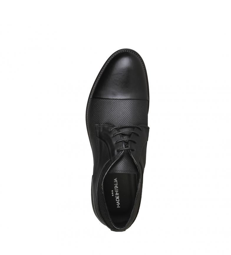 Negro Zapatos Dino Piel Italia Made In De MVpqUSz