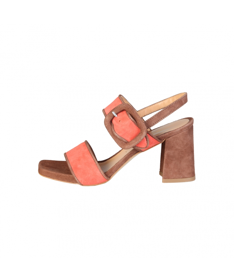 Comprar Made In Italia Gaia orange leather sandals -Heel height: 8cm-