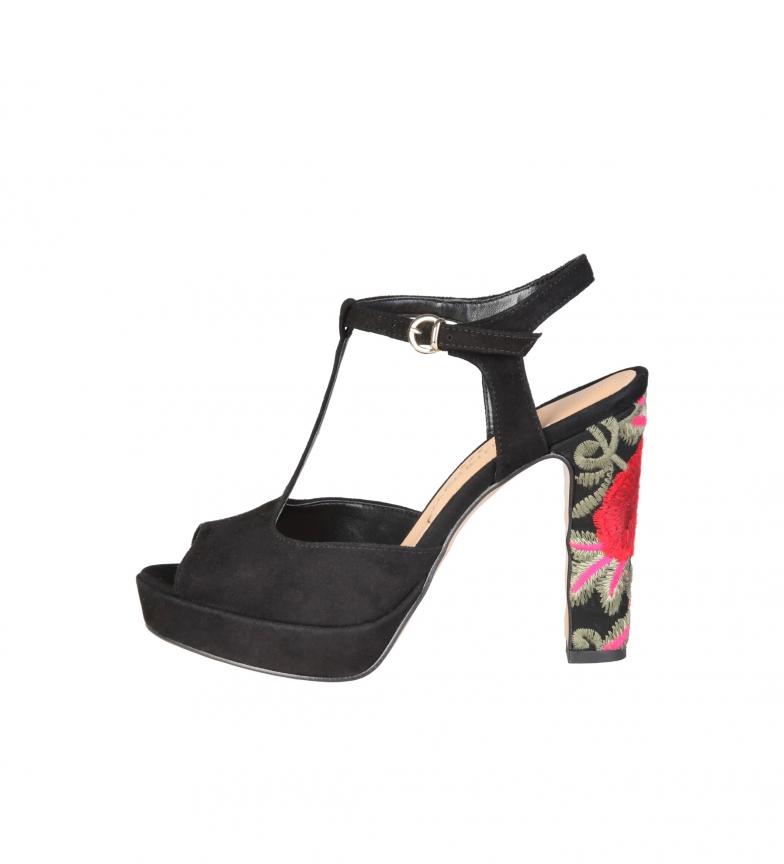 Comprar Made In Italia Sandalias de piel Rosalinda negro -Altura tacón: 11cm-