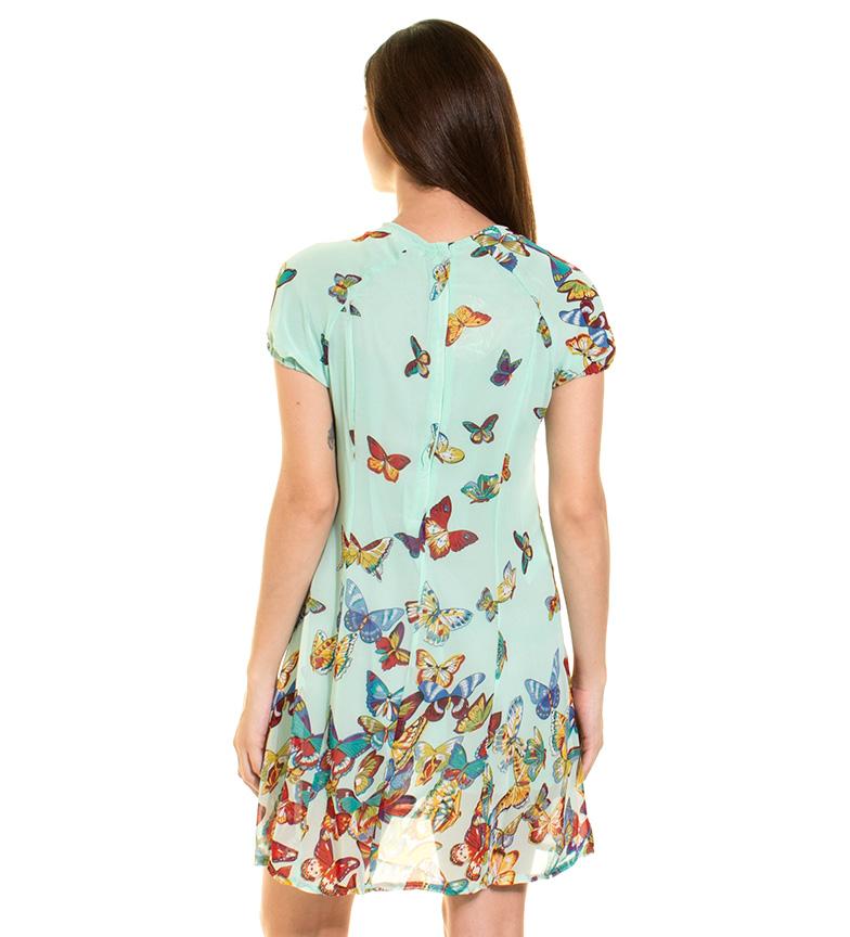 Azura Vestido mariposas verde