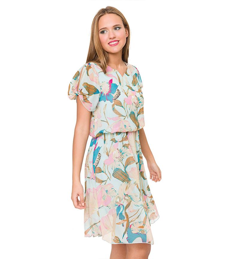 ser etter online billig Azura Mynte Floral Kjole md0tyR