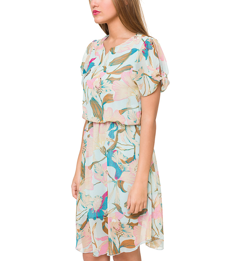 Azura Vestido floral menta