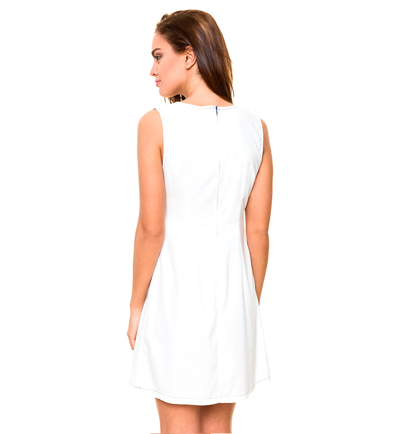 Azura Vestido lazos blanco